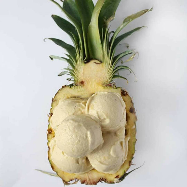 3 Ingredient Healthy Pineapple Banana Ice cream