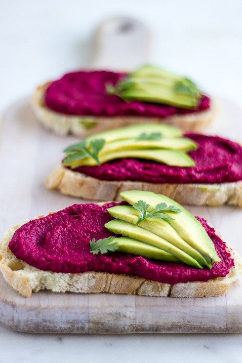 High Protein Beetroot Hummus Spread