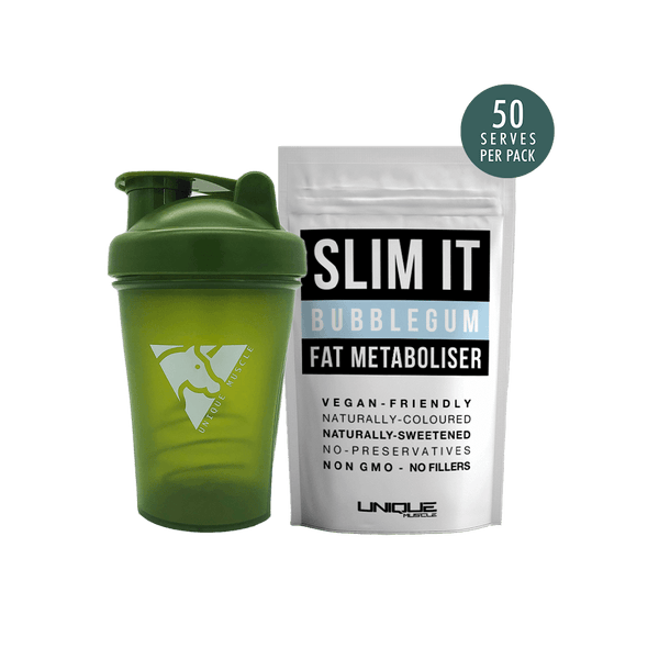 Slim It Fat Metaboliser + Shaker Pack - Unique Muscle