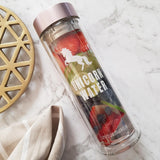 Unicorn Water Glass Infuser Bottle