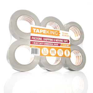 "Tape King™ Packing Tape XL - 2.7mil Thick - 6 Pack (2"" x 110 Yards Per Roll)"