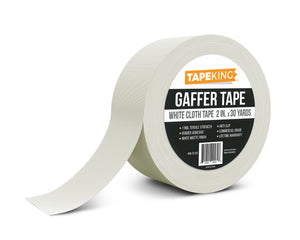 "Tape King White Gaffer Tape 2"" x 30 Yards Single Roll"