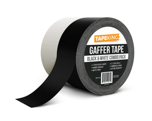 "Tape King Combo Gaffer Tape 2"" x 30 Yards White & Black Rolls"