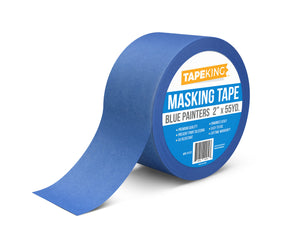 "Tape King Blue Painters Masking Tape 2"" x 55 Yard Single Roll"