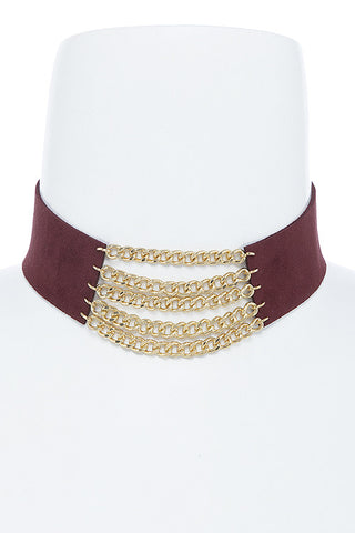 Burgundy Chain Necklace