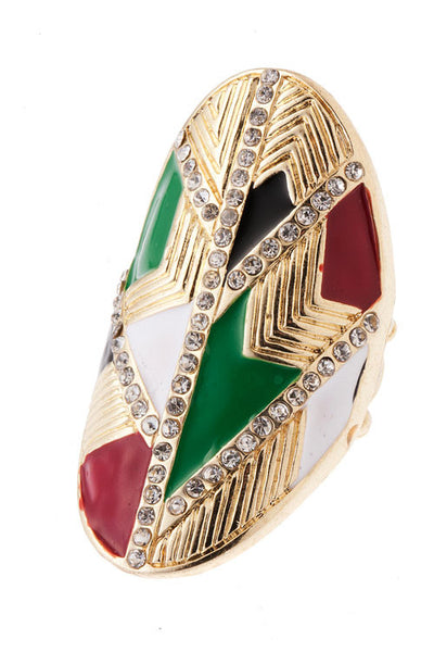 Multi-Colored Stretch Ring