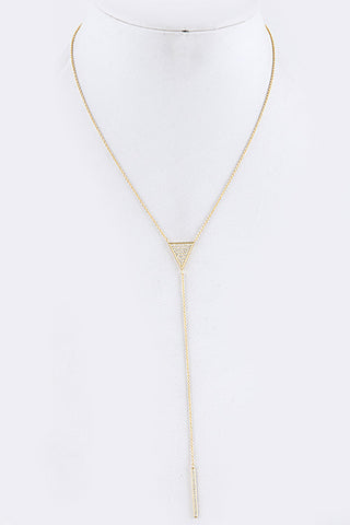 Bar Drop Triangle Necklace