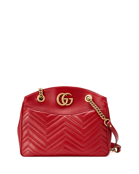 Gucci GG Marmont 2.0 Medium Quilted Shoulder Bag, Red