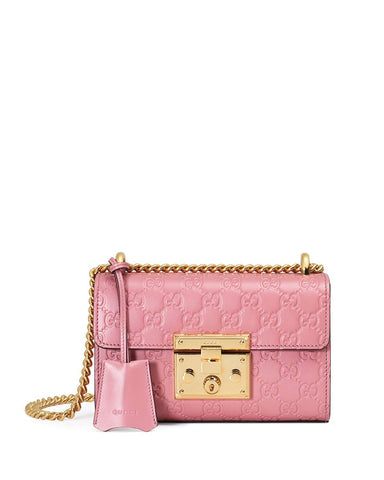 Gucci Padlock Gucci Signature Small Shoulder Bag, Rose