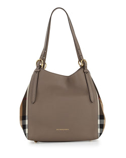 Burberry Canterby Small Check Shoulder Bag, Thistle Gray