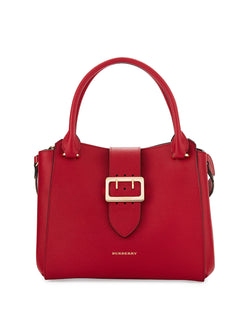 Burberry Buckle Medium Tote Bag, Parade Red