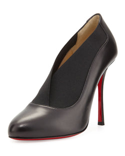 Christian Louboutin Toot Couverte Leather 100mm Red Sole Bootie, Black