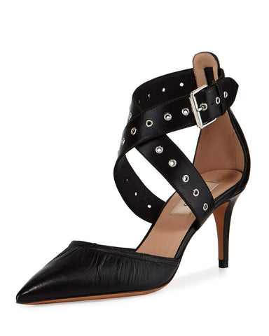 Valentino Love Latch d'Orsay 70mm Pump, Black (Nero)