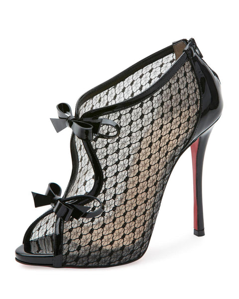 Christian Louboutin Empirealta Lace 120mm Red Sole Bootie, Black