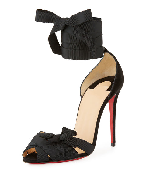 Christian Louboutin Christeriva Lace-Up 100mm Red Sole Sandal