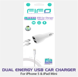 DUAL ENERGY USB CAR CHARGER