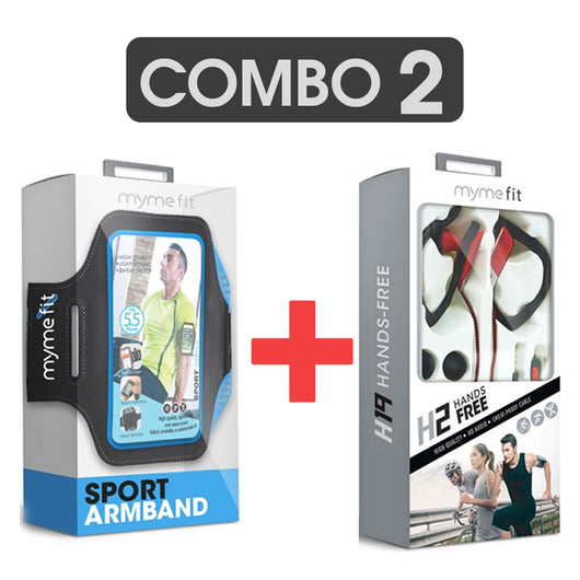 Combo H2 Audífono Deportivo Manos Libre + Sport Arm Band Myme FIT