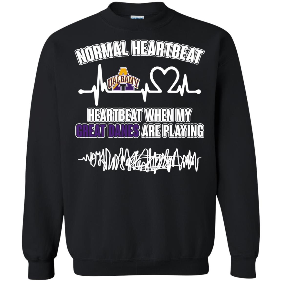 Albany Great Danes T shirts Heartbeat When My Great Danes Playing Hoodies Sweatshirts