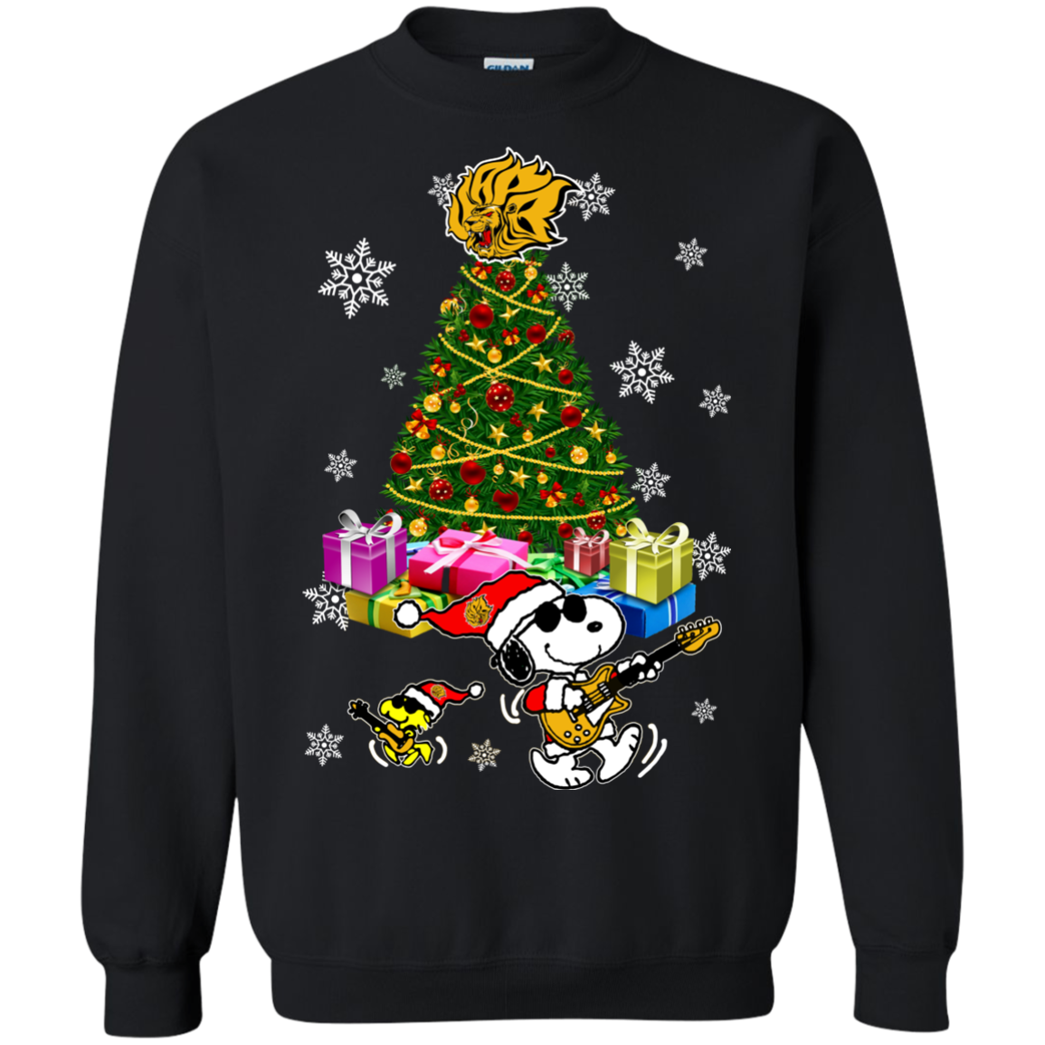 arkansas pine bluff golden lions ugly christmas sweaters merry christmas snoopy hoodies sweatshirts - Merry Christmas Snoopy