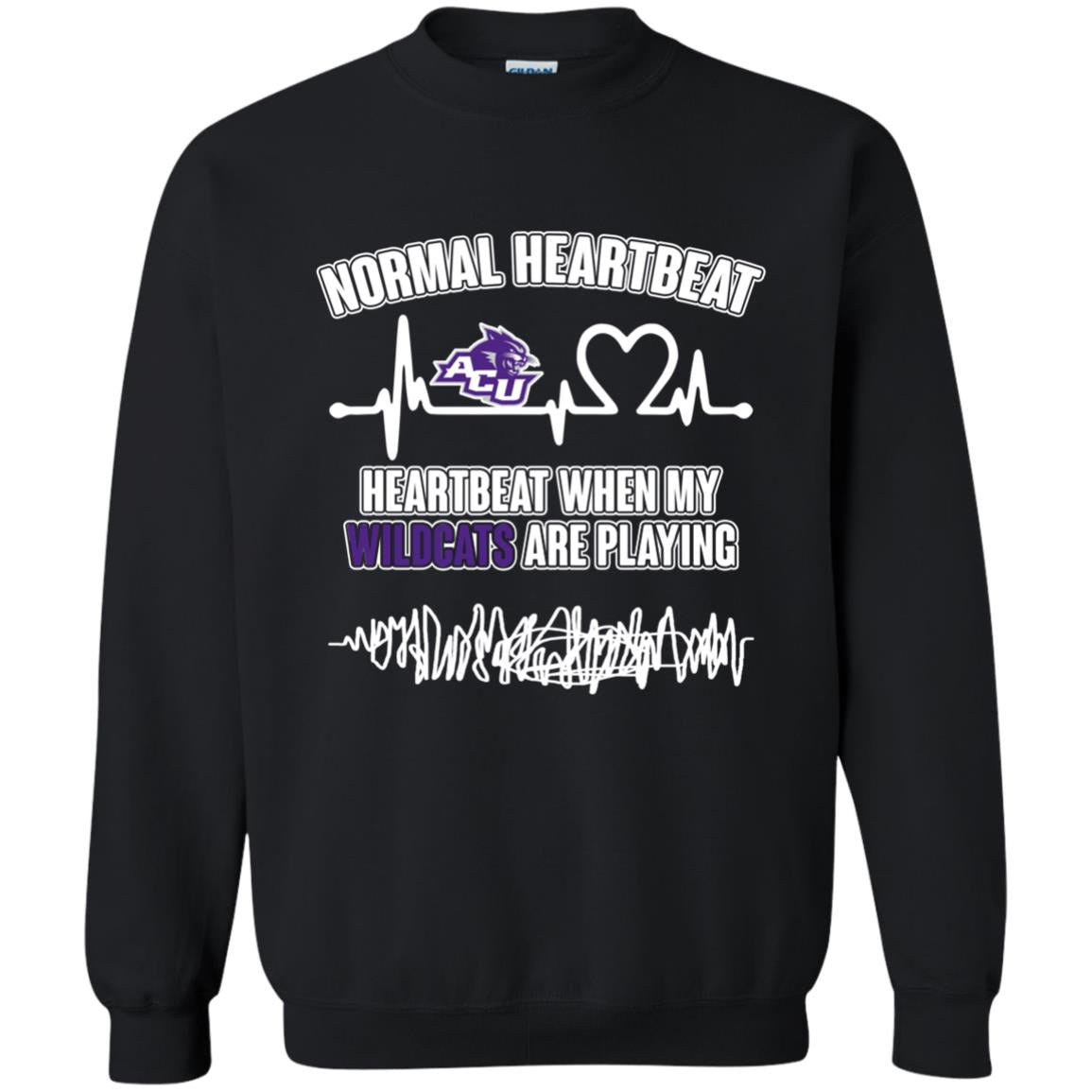 Abilene Christian Wildcats T shirts Heartbeat When My Wildcats Playing Hoodies Sweatshirts
