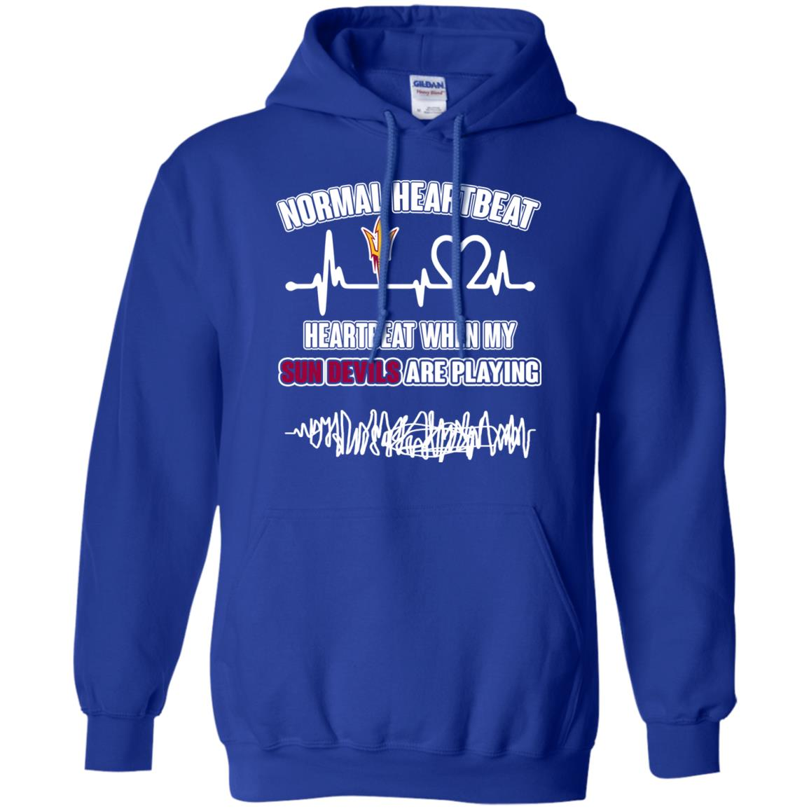 Arizona State Sun Devils T shirts Heartbeat When My Sun Devils Playing Hoodies Sweatshirts