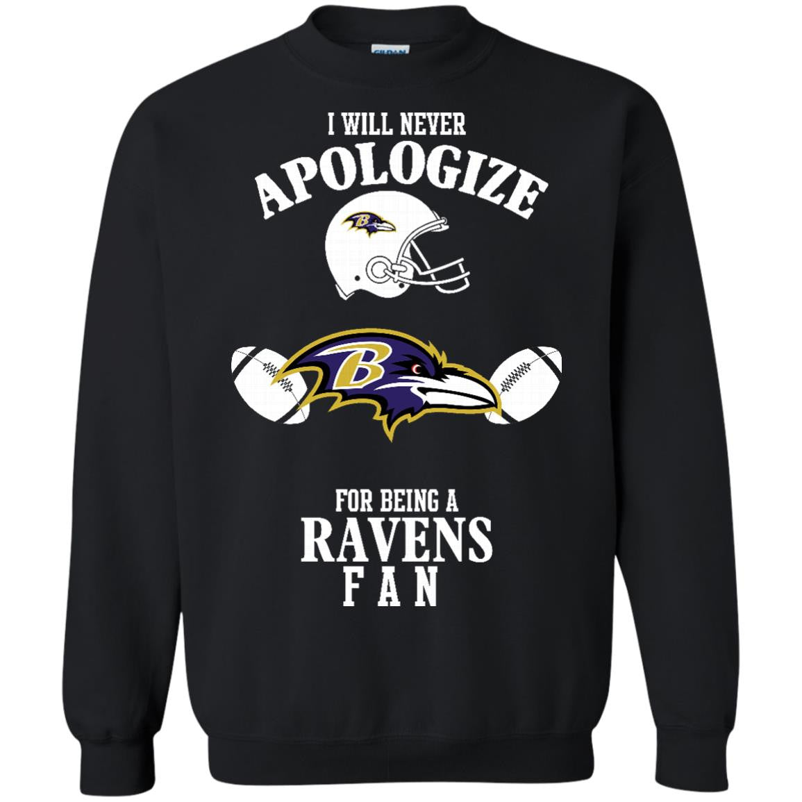 Baltimore Ravens Shirts Never Apologize For Being Ravens Fan T-Shirts Hoodies Sweatshirts