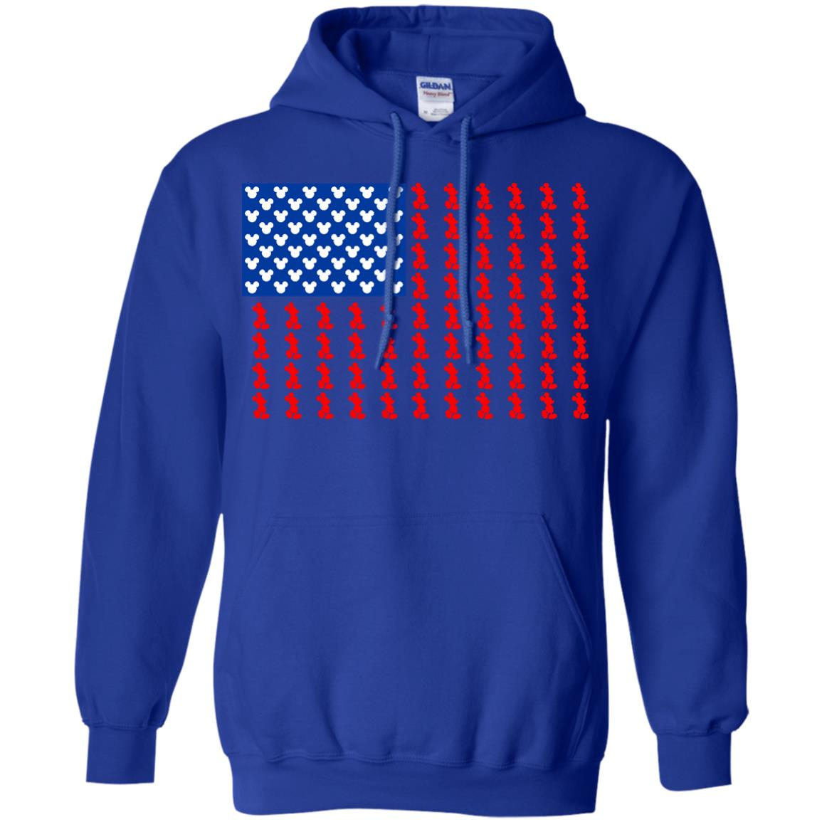 America T shirts Mickey Flag Hoodies Sweatshirts