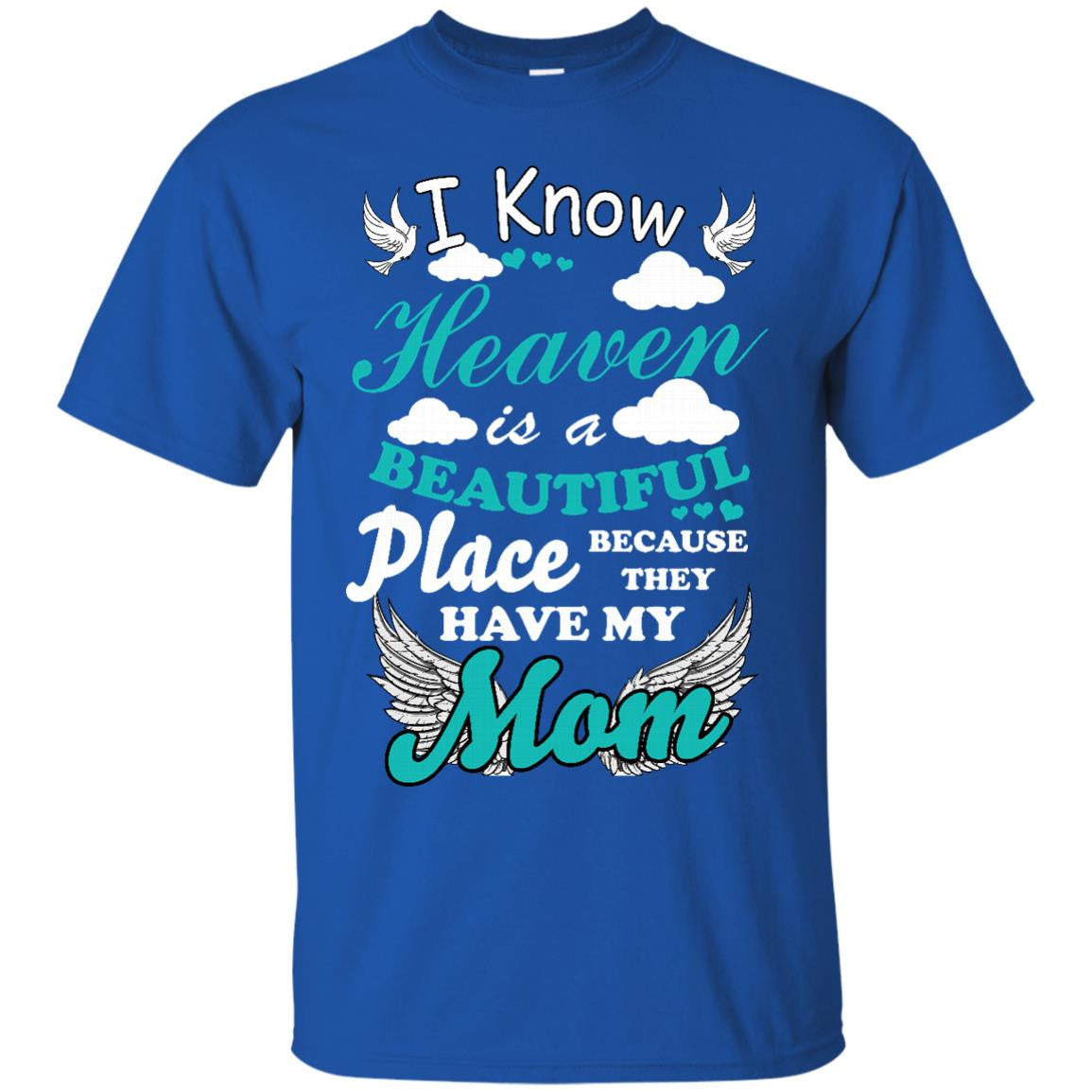 Mother 39 s day gift t shirts i know heaven is a beautiful for Pitbull mom af shirt