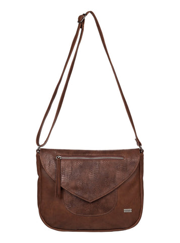 Roxy Cross Bag - Faux Leather - Brown