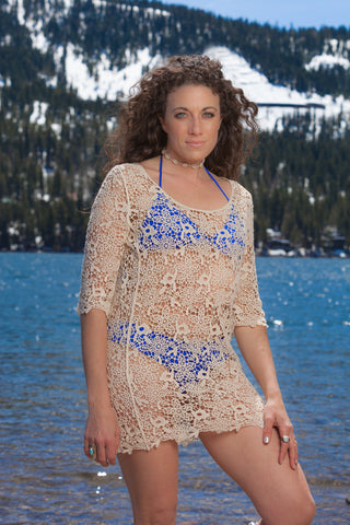 Natural Crochet Cover-up