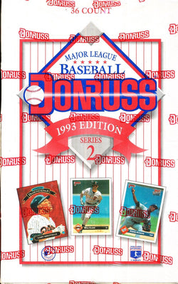 1993 Donruss Series 2 Baseball Wax Box