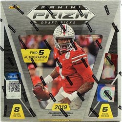 2019 Panini Prizm Draft Picks Football Hobby Box 16-Box Case
