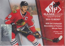 2014-15 Upper Deck SP Game Used Hockey Box