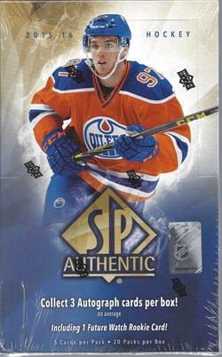 2015-16 Upper Deck SP Authentic Hockey Box
