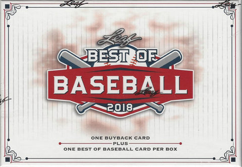 2018 Leaf Best of Baseball Box