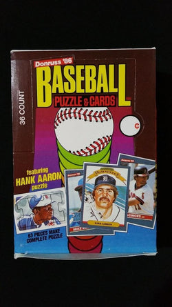 1986 Donruss Baseball Wax Pack
