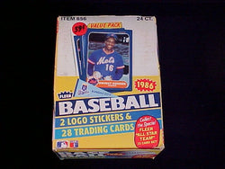 1986 Fleer Baseball Wax Pack