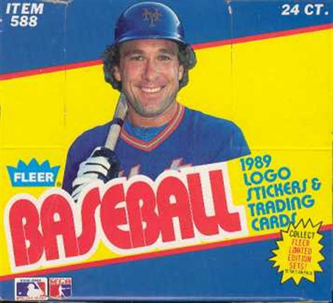 1989 Fleer Baseball Cello Box - Early box with Ripken Error
