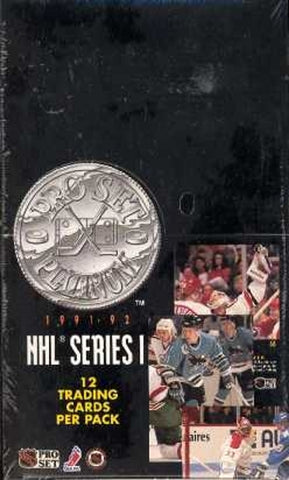 1991-92 Pro Set Platinum Hockey Box