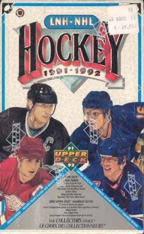 1991-92 Upper Deck French Hockey Box