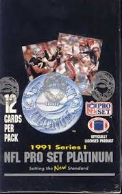 1991 Pro Set Platinum Football Box