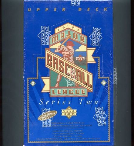 1993 Upper Deck Series 2 Baseball Box