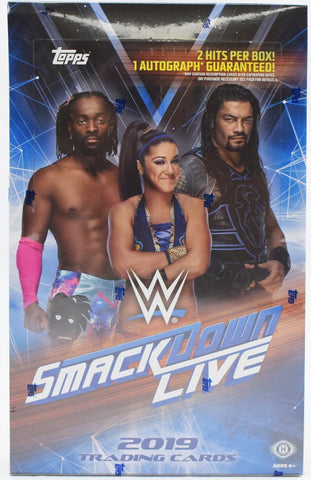 2019 Topps WWE Smackdown Live Box