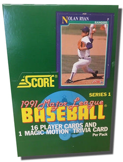 1991 Score Baseball Series 1 Box