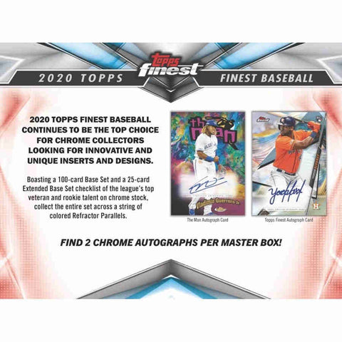2020 Topps Finest Baseball - 8 Box Hobby Case