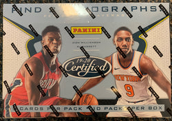 2019-20 Panini Certified Basketball Box