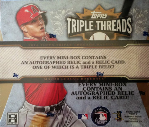 2014 Topps Triple Threads Baseball Box