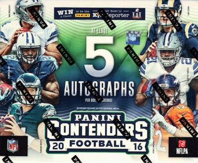 2016 Panini Contenders Football Case