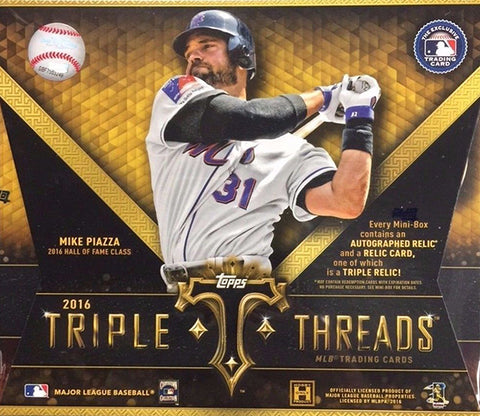 2016 Topps Triple Threads Baseball Box