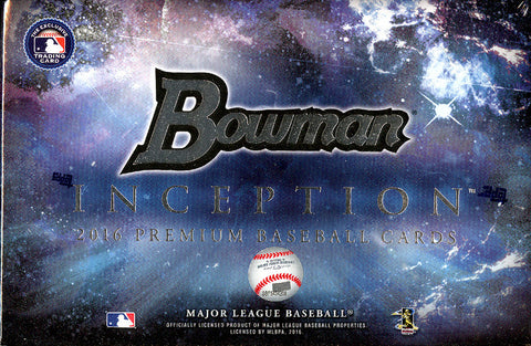2016 Bowman Inception Baseball Box